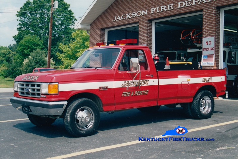 <center> Jackson  Brush 1 <br> 1988 Ford F-350 4x4 250/250 <br> Greg Stapleton photo <br> </center>