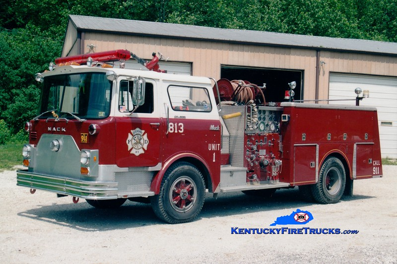 <center> RETIRED <br> Quicksand  Engine 813 <br> x-Seville, PA <br> 1978 Mack CF 1250/500 <br> Greg Stapleton photo </center>