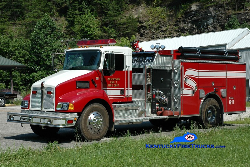 <center> Quicksand  Engine 2 <br> 2006 Kenworth T-300/Pierce 1250/1000 <br> Greg Stapleton photo </center>