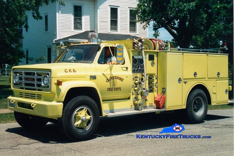 <center> RETIRED <br> Cloverport  Engine 2 <br> 1978 GMC 7000/Grumman-Howe 1000/500 <br> Greg Stapleton photo </center>