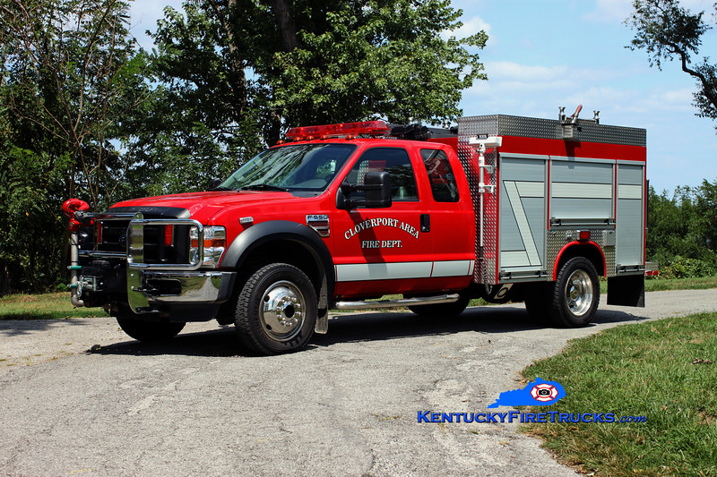 <center> Cloverport Area  Brush 19 <br> 2008 Ford F-550 4x4/Fouts Bros 250/250 <br> Kent Parrish photo </center>