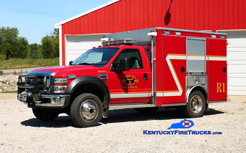 <center> Custer Area  Rescue 1 <br> 2007 Ford F-550 4x4/Intrepid Emergency Vehicles <br> Kent Parrish photo </center>