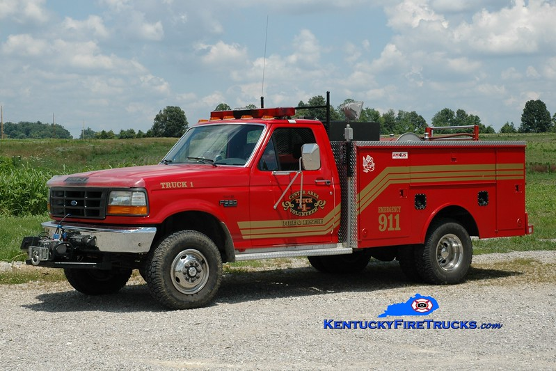 <center> Custer Area  Truck 1 <br> *Updated photo <br> 1993 Ford F-350 4x4/Monroe 250/250 <br> Greg Stapleton photo </center>