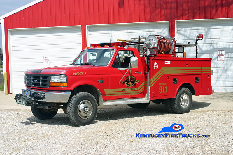 <center> Custer Area  Truck 1 <br> 1993 Ford F-350 4x4/Monroe 250/250 <br> Kent Parrish photo </center>