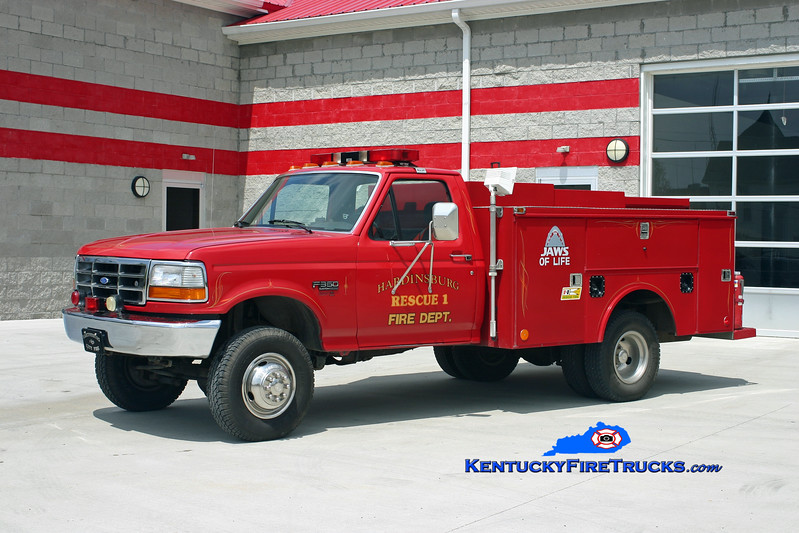 <center> RETIRED <br> Hardinsburg  Rescue  <br> 1992 Ford F-350 4x4/Monroe  <br> Kent Parrish photo </center>