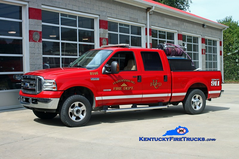 <center> Hardinsburg  Brush 146 <br> 2004 Ford F-250 4x4/Nichols Fire &amp; Safety 250/250  <br> Kent Parrish photo </center>