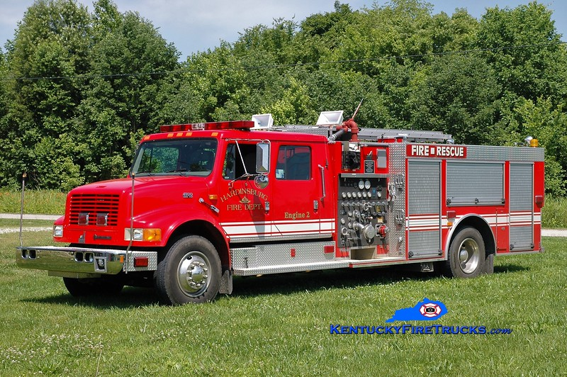 Hardinsburg  Engine 2<br /> x-Owensboro, KY<br /> 1998 International 4900/Smeal 1250/1000<br /> Greg Stapleton photo