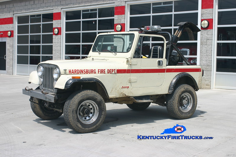 <center> RETIRED <br> Hardinsburg  Brush 1 <br> 1985 Jeep CJ-7 4x4 125/100  <br> Kent Parrish photo </center>