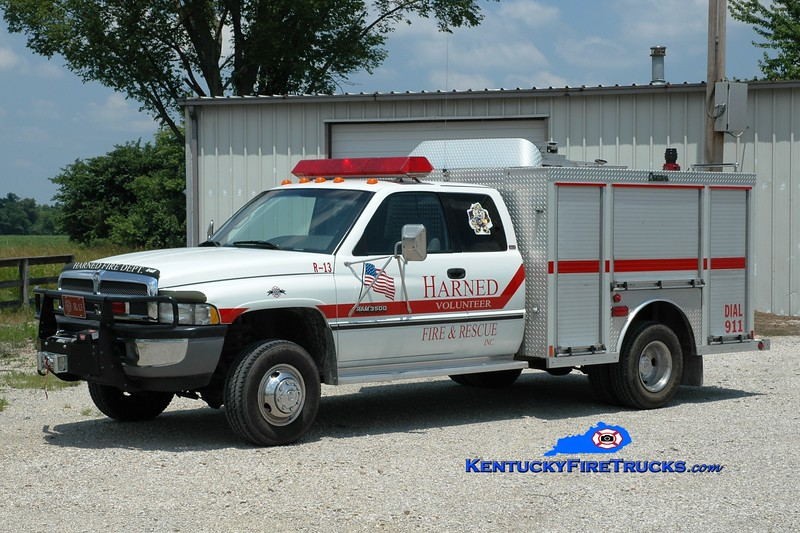<center> Harned  Rescue 13 <br> 1996 Dodge Ram 3500 4x4/Central States  <br> Greg Stapleton photo </center>