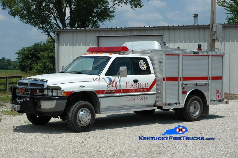 <center> Harned  Rescue 13 <br> 1996 Dodge Ram 3500 4x4/Central States  <br> Greg Stapleton photo </center>