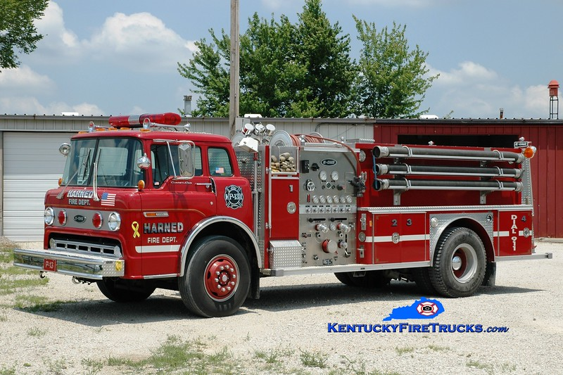 <center> Harned  Pumper 13 <br> x-West Clinton, NY <br> 1989 Ford C-8000/E-One 1000/1000 <br> Greg Stapleton photo </center>