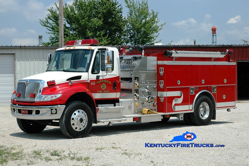 <center> Harned  Engine 13 <br> 2003 International 4400/KME 1250/1000 <br> Greg Stapleton photo </center>