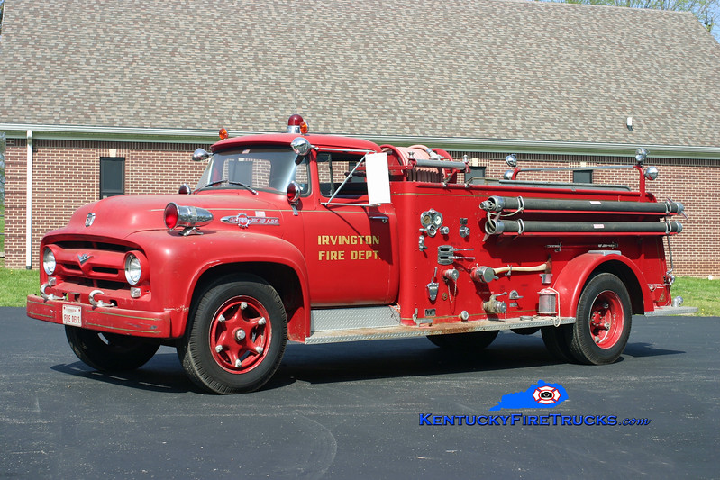 <center> Irvington  Antique  <br> 1956 Ford F-750/American 500/500 <br> Kent Parrish photo </center>