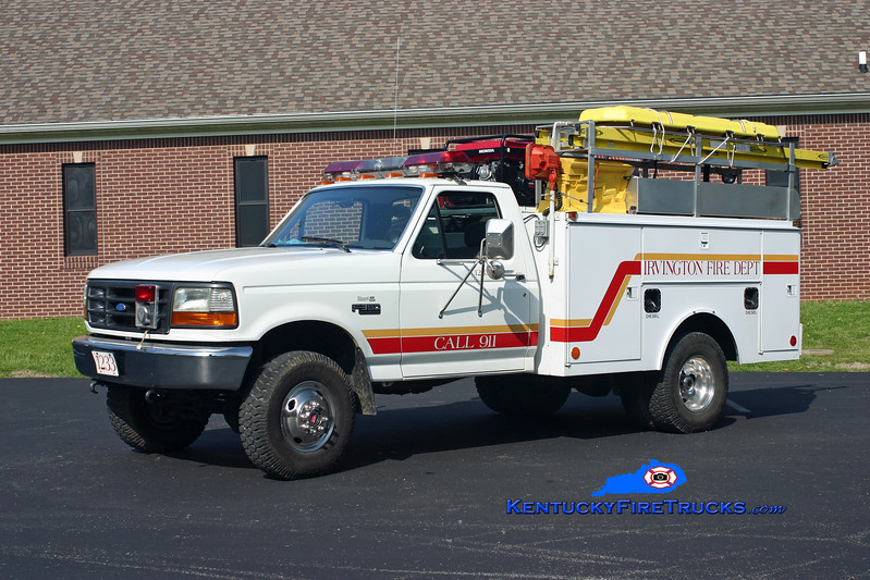 <center> Irvington  Squad 1233 <br> 1992 Ford F-350 4x4/Monroe 250/250 <br> Kent Parrish photo </center>