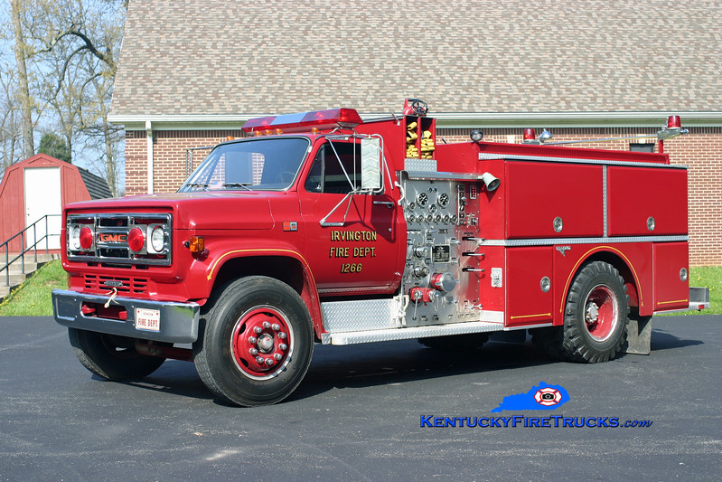<center> RETIRED <br> Irvington  Engine 1226 <br> 1987 GMC 7000/Grumman 1000/750 <br> Kent Parrish photo </center>