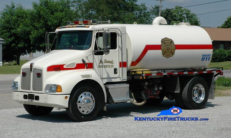 <center> McDaniels  Tanker 2 <br> 2003 Kenworth T-300/Local 250/2200 <br> Greg Stapleton photo </center>