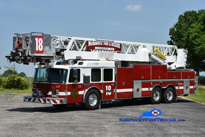 McDaniels  Ladder 18<br /> x-West Mifflin, PA<br /> 1989 Duplex D-450/Grumman 95'  Aerialcat <br /> Greg Stapleton photo