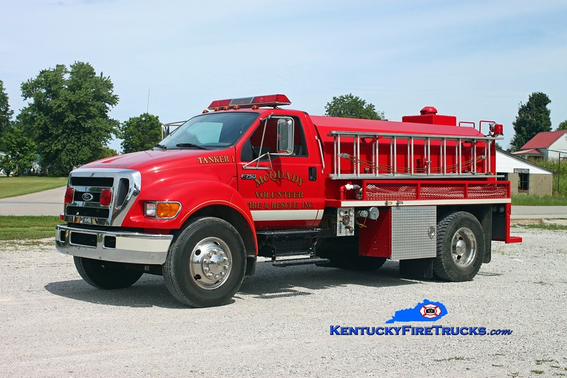 <center> To Hardinsburg, KY <br> McQuady  Tanker 1 <br> 2004 Ford F-750/Deep South 450/1800 <br> Kent Parrish photo </center>