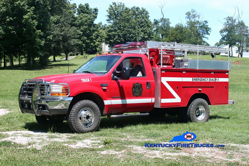 <center> Webster Truck 1 <br> 1999 Ford F-350 4x4/Knapheide 250/300 <br> Kent Parrish photo </center>