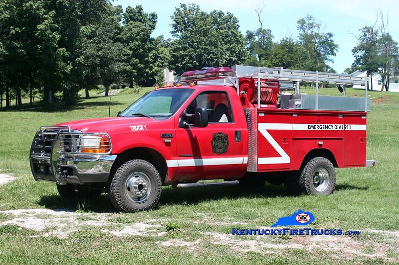 <center> Webster Truck 1 <br> 1999 Ford F-350 4x4/Knapheide 250/300 <br> Kent Parrish photo </center>