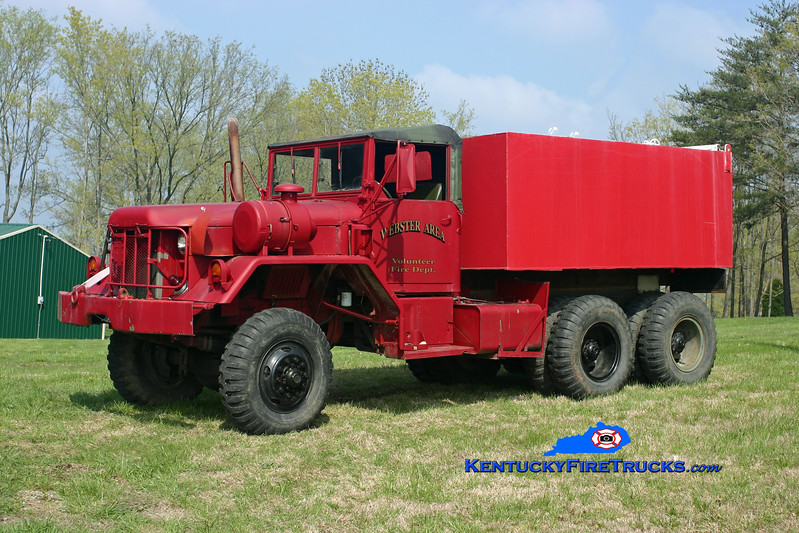 <center> RETIRED <br> Webster Area Tanker 1 <br> 1966 Kaiser 6x6/Local 0/2000 <br> Kent Parrish photo </center>