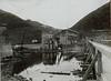 Gesprengte Brücke über den Dnjestr bei Zaleszczyki