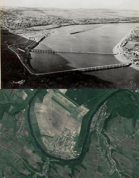 Мости на Дністрі між селами Лука (лівий берег) і Незвисько (правий берег)