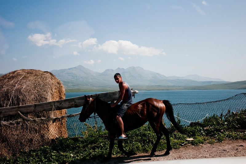 August 2011- Bakuriani, Georgia   Young boy on his horse near an Aremenian settlement in the Bakuriani region where the BTC pipeline goes through.   Since it became operational in 2006 the BTC has allowed Azerbaijan to export its oil to world markets through Georgia and Turkey, thus avoiding Russia.  It has given Azerbaijan a greater sense of independence and a new role for Georgia in Europe's energy security to the annoyance of Russia.  Some blame the BTC for Russia's continued covert involvement in regional latent conflicts (Abkhazia, South Ossetia, Nagorno Karabakh).