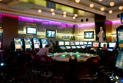 August 2011, Batumi, Georgia:  Casino in Batumi, where tourists from Armenia, Iran,Azerbaijan, Israel and Turkey gamble alongside of Georgians.   Since the money has begun to flow from the Baku-Tbilis-Ceyhan (BTC) oil pipeline, designer shops and expensive hotels and restaurants have sprung up in Baku.  The disparities between rich and poor are however still enormous.
