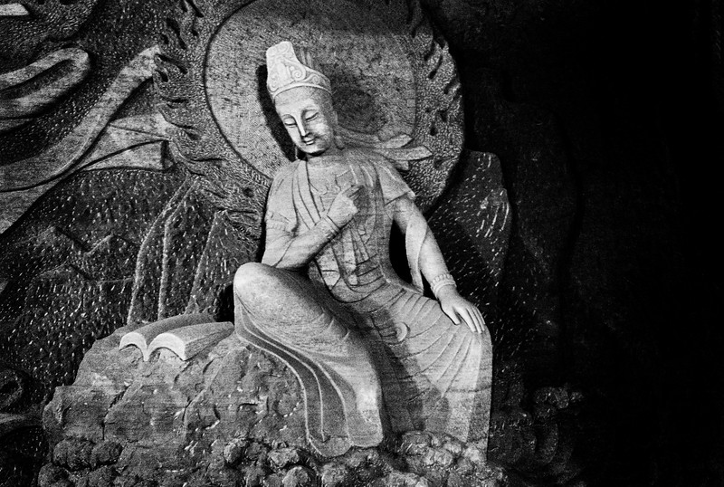 Photographs of cravings of Buddhas from Mt. Emei in Chengdu, China