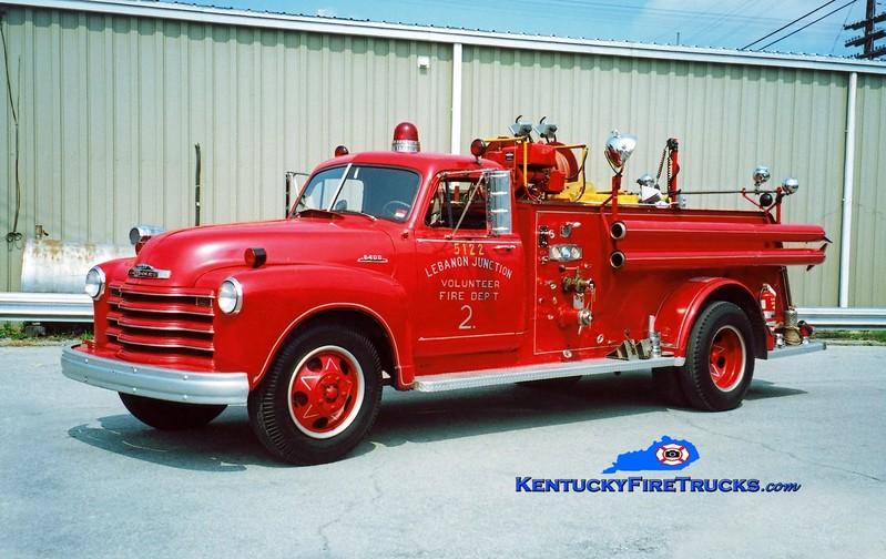 <center> RETIRED <br> Lebanon Junction Engine 5122 <br> 1952 Chevy 5400/Luverne 500/250 <br> Kent Parrish photo </center>