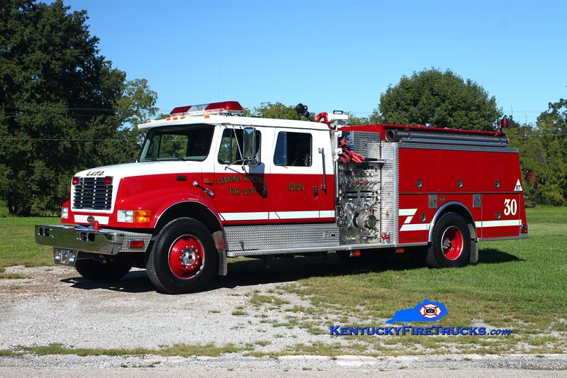 <center> Lebanon Junction Engine 5130 <br> 1999 International 4900/KME 1250/1000 <br> Kent Parrish photo </center>