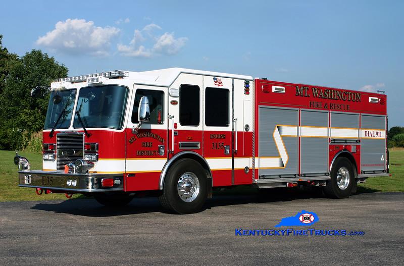 Mt Washington Engine 3135<br /> 2010 KME Predator 1500/750/30<br /> Kent Parrish photo