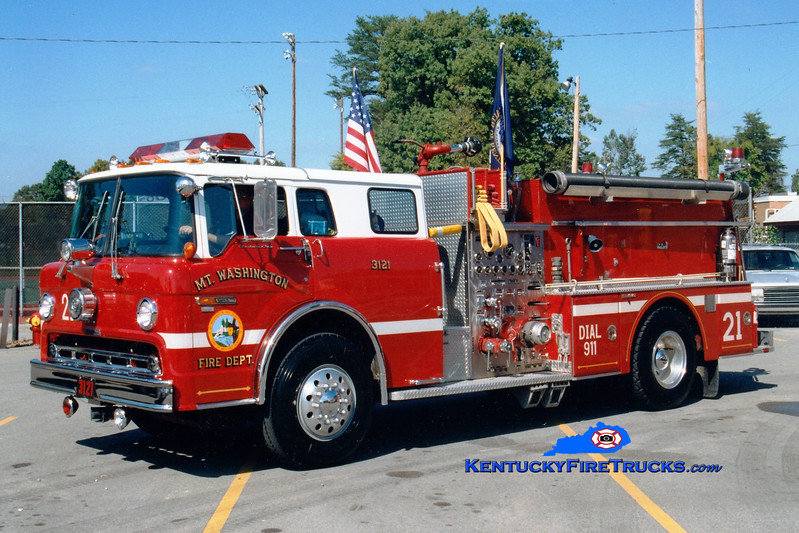 <center> RETIRED <br> Mt Washington  Engine 3121 <br> 1987 Ford C-8000/Grumman 1250/750 <br> Greg Stapleton photo </center>