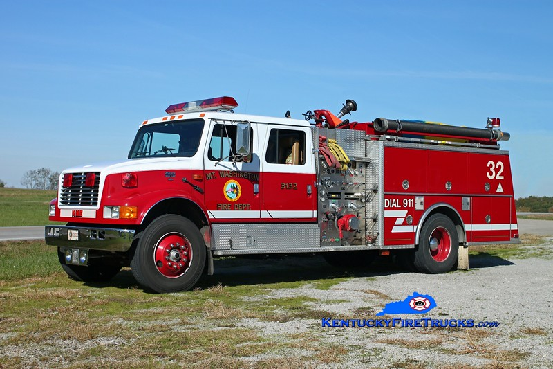 <center> Mt Washington  Engine 3132 <br> 1994 International 4900/KME 1250/1000 <br> Kent Parrish photo </center>