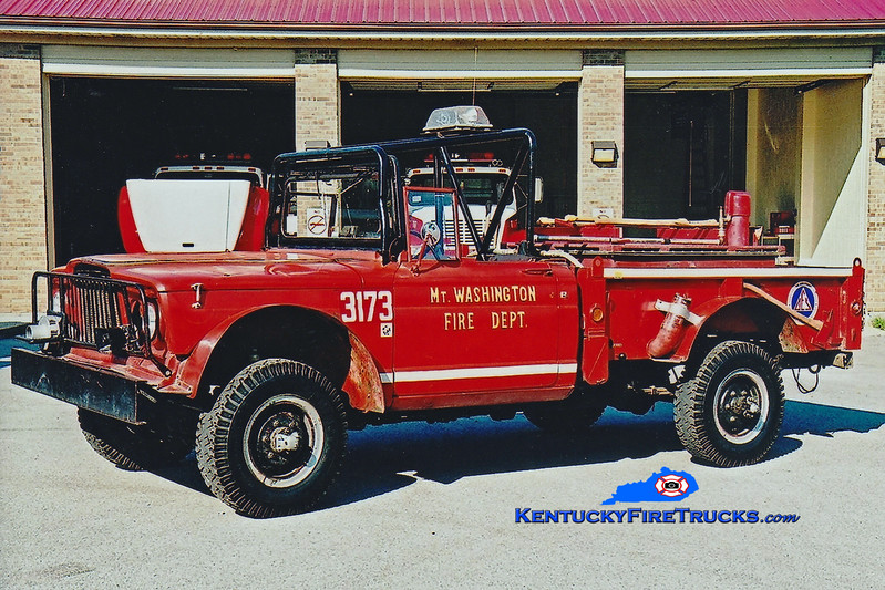 <center> RETIRED <br> Mt Washington  Brush 3173 <br> x-US Army <br> 1967 Kaiser Jeep/MWFD 50/150 <br> Greg Stapleton photo </center>