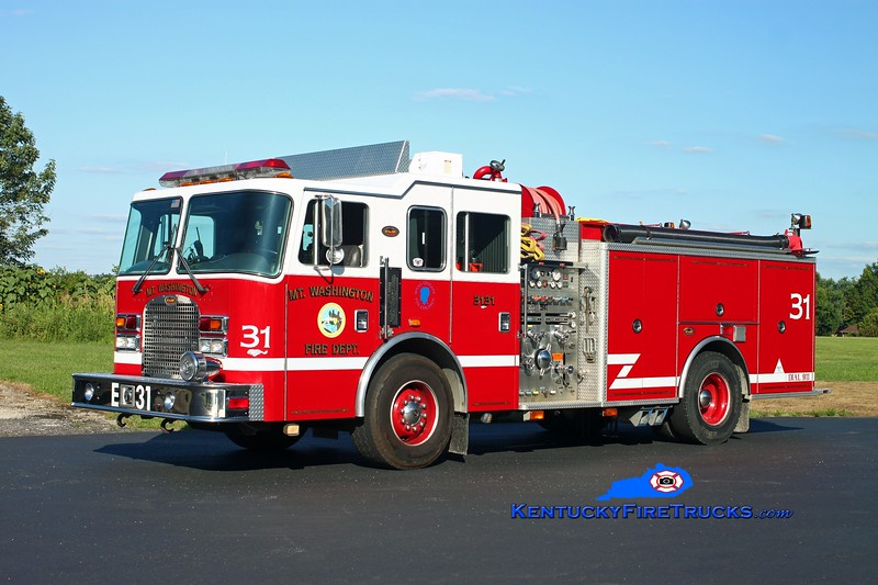 <center> Mt Washington  Engine 3131 <br> 1999 KME Excel 1500/750/30 <br> Kent Parrish photo </center>
