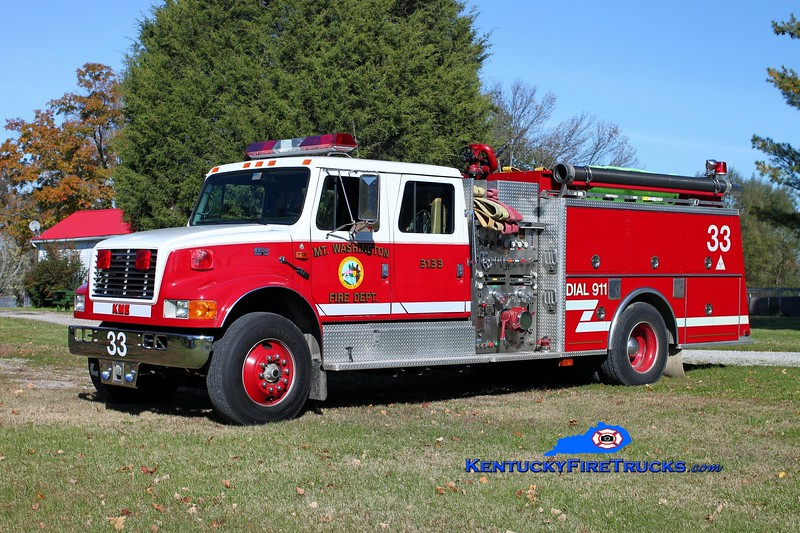 <center> Mt Washington  Engine 3133 <br> 1994 International 4900/KME 1250/1000 <br> Kent Parrish photo </center>