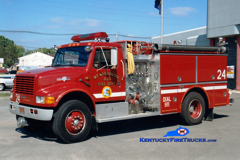 <center> RETIRED <br> Mt Washington  Engine 3124 <br> 1989 International 4900/Grumman 1250/750 <br> Greg Stapleton photo </center>