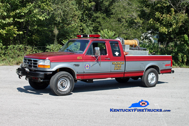 <center> RETIRED <br> Nichols  Brush 4971 <br> 1996 Ford F-250 4x4 250/200 <br> Kent Parrish photo <br> </center>