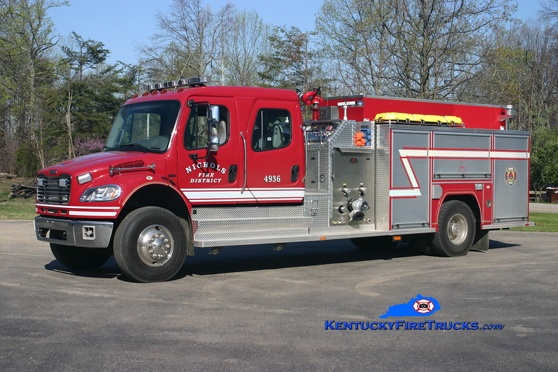 <center> Nichols  Engine 4936 <br> 2006 Freightliner M2-106/Fire Master 1250/1000/30 <br> Kent Parrish photo <br> </center>