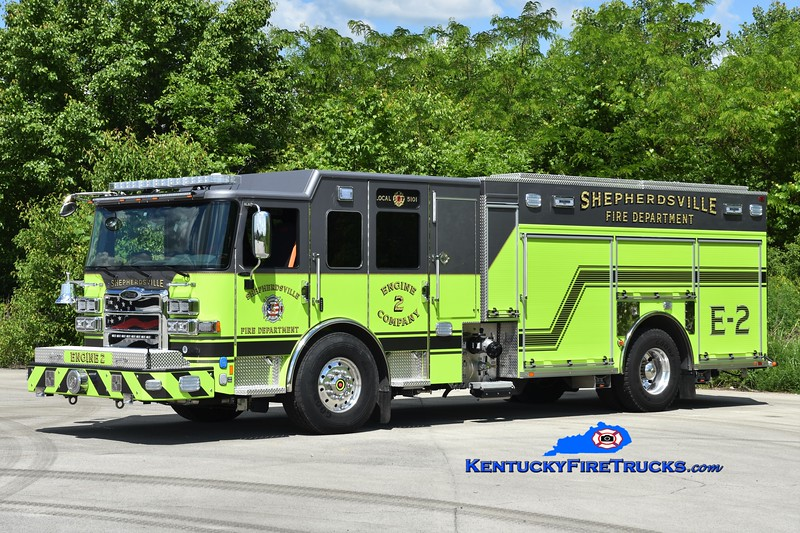 Shepherdsville  Engine 2<br /> 2019 Pierce Enforcer 1500/750/50<br /> Greg Stapleton photo