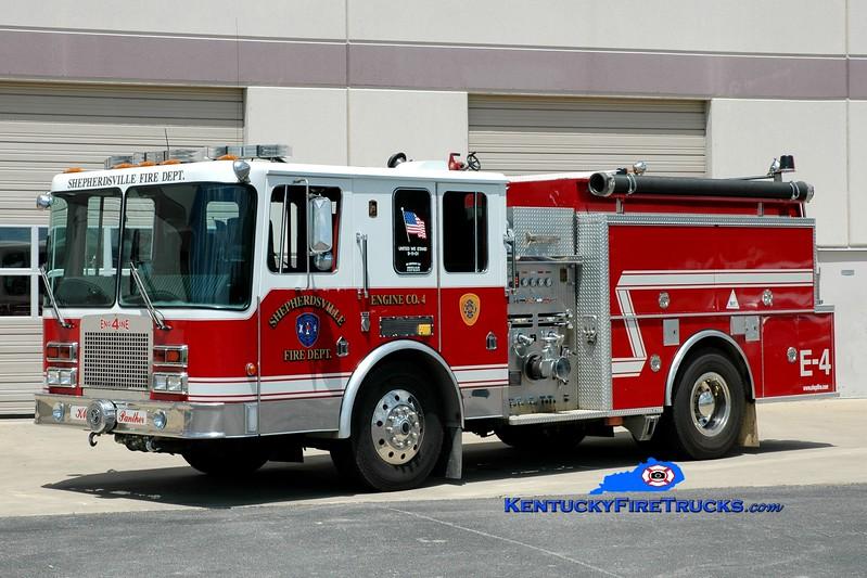 <center> RETIRED <br> Shepherdsville Engine 4 <br> 1993 HME/KME 1250/1000 <br> Greg Stapleton photo </center>