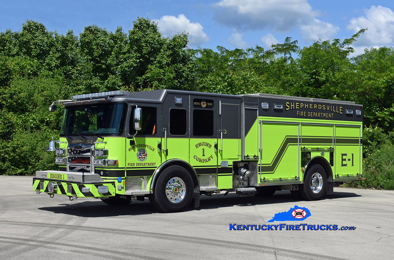 Shepherdsville  Engine 1<br /> 2019 Pierce Enforcer 1500/750/50<br /> Kent Parrish photo