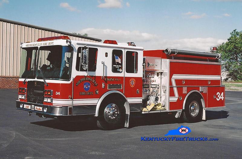 <center> RETIRED <br> Shepherdsville Engine 4 <br> 1993 HME/KME 1250/1000 <br> Kent Parrish photo </center>