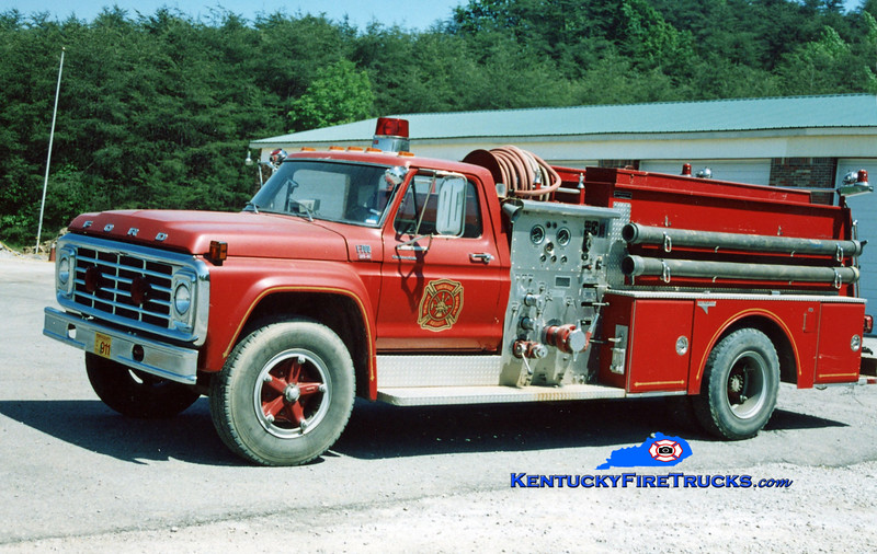 <center> RETIRED <Br> Southeast Bullitt Engine 6123 <br> 1979 Ford F-700/Grumman 750/750 <br> Kent Parrish photo </center>