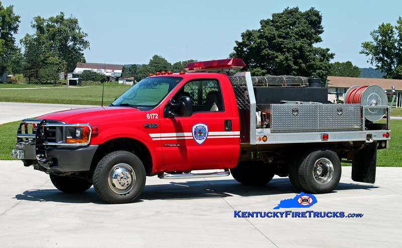<center> Southeast Bullitt  Brush 6173 <br> x-Brush 6172 <br> 2000 Ford F-350 4x4/Fouts Bros 250/250 <br> Kent Parrish photo </center>