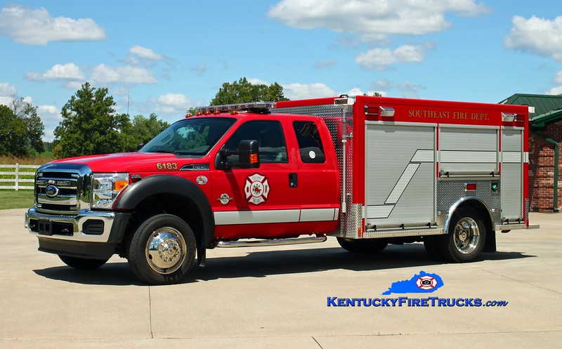 <center> *Reassigned <br> Southeast Bullitt  Rescue 6183 <br> 2011 Ford F-450 4x4/Freedom Fire <br> Kent Parrish photo </center>