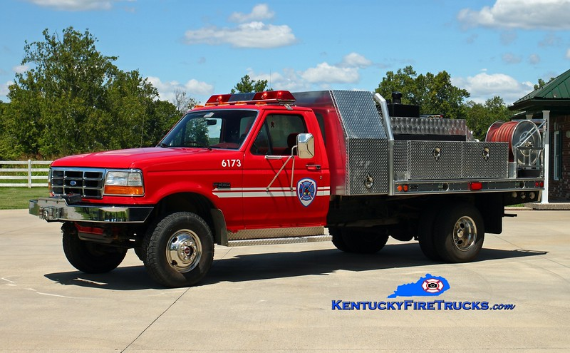 <center> RETIRED <br> Southeast Bullitt  Brush 6173 <br> 1994 Ford F-350 4x4/2011 Freedom Fire 250/250/10 <br> Kent Parrish photo </center>