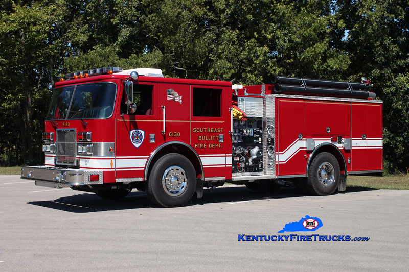 <center> *Reassigned <br> Southeast Bullitt Engine 6130 <br> 2009 Pierce Contender 1250/1000 <br> Kent Parrish photo </center>